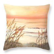 Path To Sunlit Waters Throw Pillow