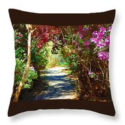 Path To The Gardens Throw Pillow