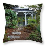 Path To The Gazebo Throw Pillow