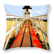 Path To The Lighthouse Throw Pillow