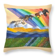 Paths Of Diversity Throw Pillow