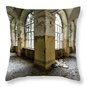 Pathway Around Insanity - Urban Exploration Throw Pillow