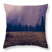 Pathway During First Snow In Yosemite Valley Throw Pillow by Priya Ghose