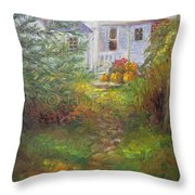Pathway From The Treehouse Throw Pillow