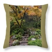 Pathway Into Fall Throw Pillow