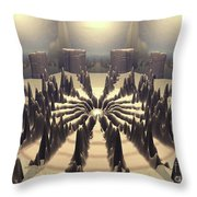 Pathway Of Peaks Throw Pillow