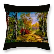 Pathway Through The Forest H A Throw Pillow