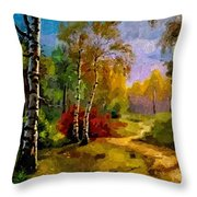 Pathway Through The Forest H B Throw Pillow