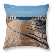 Pathway To Beach Seaside New Jersey Throw Pillow