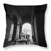 Pathway To History In Rome Throw Pillow
