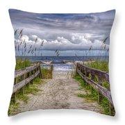 Pathway To Paradise Throw Pillow