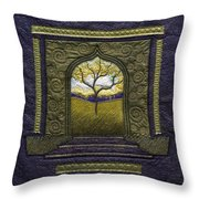 Pathway To Peace Throw Pillow
