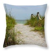 Pathway To The Beach Throw Pillow