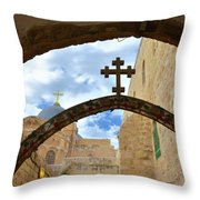 Pathway To The Cross Throw Pillow