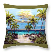Pathway To The Gulf Throw Pillow