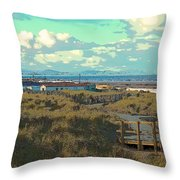 Pathway To The Sea Throw Pillow