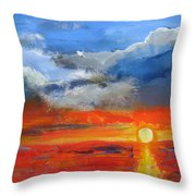 Pathway To The Sun Throw Pillow