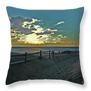 Pathway To The Sunrise Throw Pillow