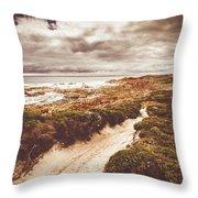Pathways To Seaside Paradise Throw Pillow