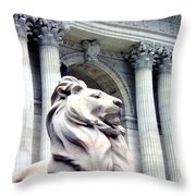 Patience With Pigeon Throw Pillow
