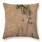 Patient Throw Pillow by James W Johnson