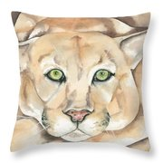 Patient Kitty Throw Pillow