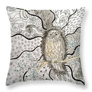 Patiently Receiving Possibility Throw Pillow