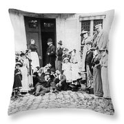 Patients Wait To See Dentist Throw Pillow