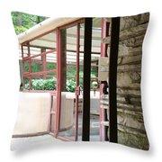 Patio Fallingwater  Throw Pillow