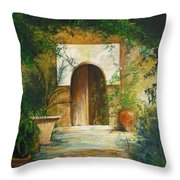 Patio Mallorquin Throw Pillow