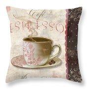 Patisserie Cafe Espresso Throw Pillow