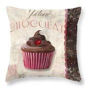 Patisserie Chocolate Cupcake Throw Pillow