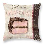 Patisserie Gateau Au Chocolat Throw Pillow