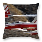 Patouille Suisse Throw Pillow