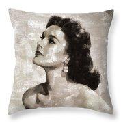 Patricia Medina, Vintage Actress Throw Pillow
