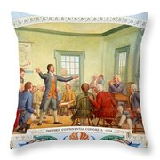 Patrick Henry, First Continental Throw Pillow