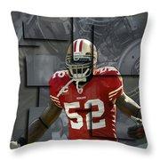 Patrick Willis San Francisco 49ers Blocks Throw Pillow