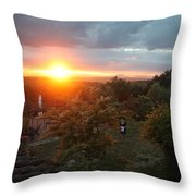 Patrignone At Sunset Throw Pillow