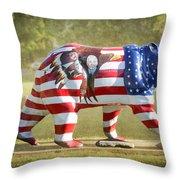 Patriot Bear Throw Pillow