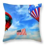 Patriotic Flight Throw Pillow