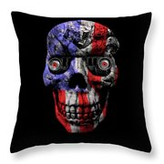 Patriotic Jeeper Cyborg No. 1 Throw Pillow