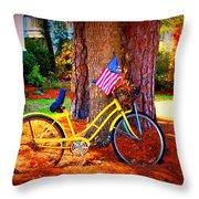 Patriotic Ride Throw Pillow