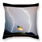 Patriotic Storm - Poster Print Throw Pillow