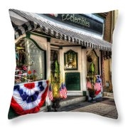 Patriotic Street Throw Pillow by Debbi Granruth