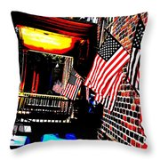 Patriotic Tavern Throw Pillow