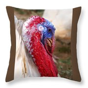 Patriotic Turkey Throw Pillow