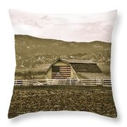 Patriotism And Barn Throw Pillow