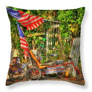 Patriots In The Keys Throw Pillow