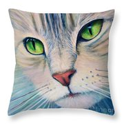 Pats Cat Throw Pillow