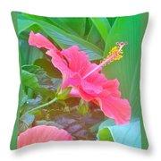 Pat's Hibiscus  Throw Pillow